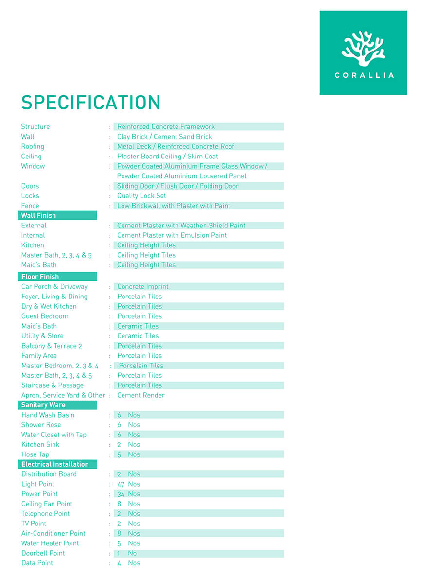 specification-corallia